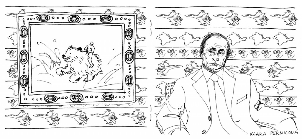 Vladimir Putin coloring book double page